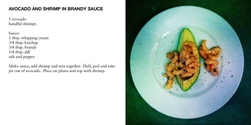 AVOCADO AND SHRIMP IN BRANDY SAUCE