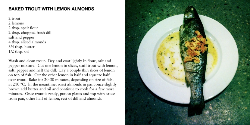 BAKED TROUT WITH LEMON ALMONDS