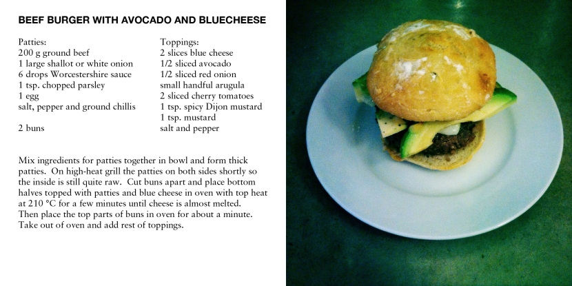 BEEF BURGER WITH AVOCADO AND BLUECHEESE