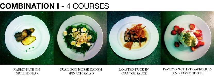 COMBINATION I - 4 COURSES