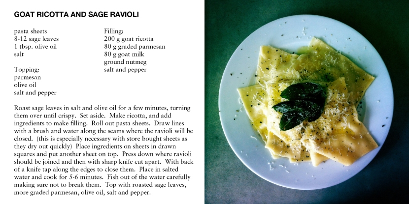 GOAT RICOTTA AND SAGE RAVIOLI