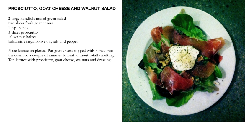 PROSCIUTTO, GOAT CHEESE AND WALNUT SALAD