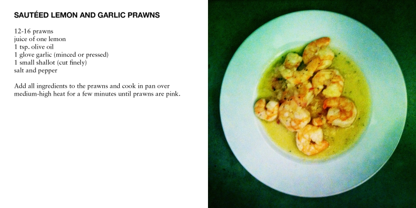 SAUTÉED LEMON AND GARLIC PRAWNS
