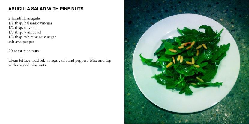 ARUGULA SALAD WITH PINE NUTS