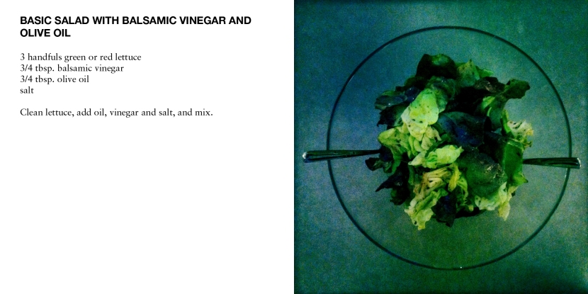 BASIC SALAD WITH BALSAMIC VINEGAR AND OLIVE OIL
