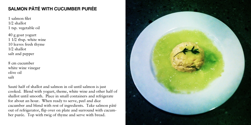 SALMON PATE WITH CUCUMBER PURÉE