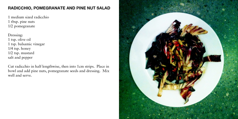 RADICCHIO, POMEGRANATE AND PINE NUT SALAD